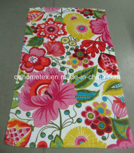 100% Cotton Velour Reactive Printed Beach Towel -Flowers