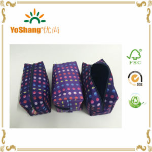 2016 Wholesale Women Satin Printing Cosmetic Bag Set pictures & photos