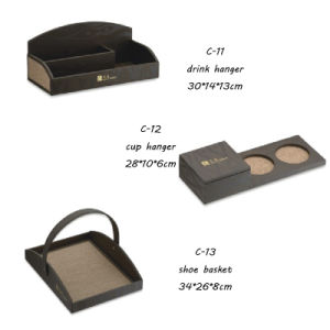 Leather C Products Note Clip PU Product Shoe Basket Amenities Tray pictures & photos