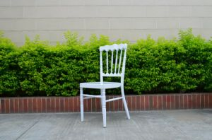 Durable Metal Napoleon Chair, White Aluminum Napoleon Chair pictures & photos