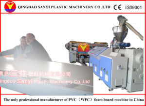 PVC Wood Plastic Composite Board Extrusion Line pictures & photos
