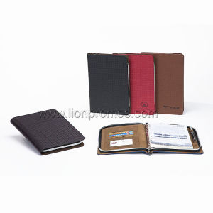 Custom Logo Zipper Bag Note Book pictures & photos