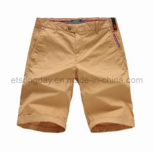 Khaki Cotton Spandex Men′s Shorts (APC44) pictures & photos