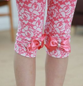 Kid′s Summer Floral Colorful Pants 1115