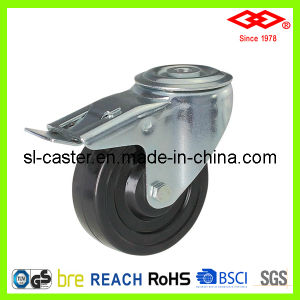 100mm Bolt Hole Locking Hard Rubber Industrial Castor (G102-53B100X32S) pictures & photos