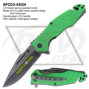 "2016 New Knife 4.5""Spring Assistant Green G10 Handle Pocket Knife: 6po23-45gn pictures & photos"