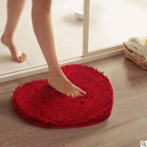 SGS Microfiber Heart-Shaped Flooring Mat Door Carpet
