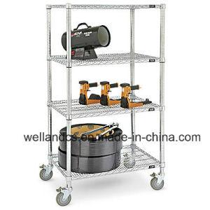 DIY Heavy Duty Chrome Steel Wire Garage Storage Rack (CJ12045180A4CW) pictures & photos