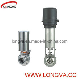 Stainless Steel Sanitary Butterlfy with Pneumatic Actuator pictures & photos