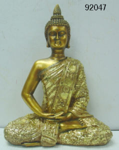 Polyresin Crafts Buddha Statue Decoration (LE87-92047)
