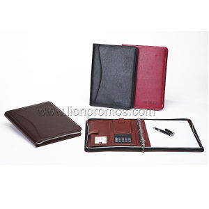 Corporate Executive Meeting Organizer Zippered Note Book pictures & photos