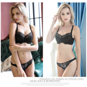 European New Design Sexy Breathable Lace Bra Set pictures & photos
