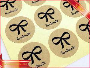 Round Kraft Paper Sticker Label Printed Adhesive Sticker Label pictures & photos