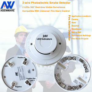 360 Full Vision Optical 24V Smoke Detector pictures & photos