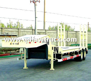 3 Axle 50t-80t Low Bed/Lowboy Semi Truck Trailer with Column pictures & photos