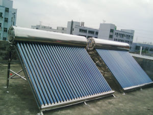 2 Sets 300 Liter Evacuated Tube Solar Water Heater System pictures & photos