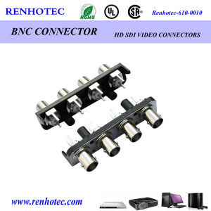 Four BNC Female Straight PCB Mount Connector pictures & photos