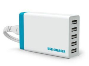 USB Quick Charger Adapter with Cable 5 Outlets pictures & photos