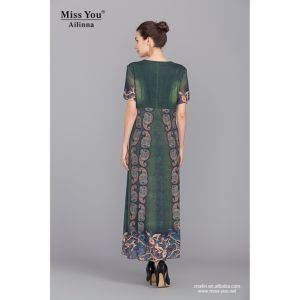 Miss You Ailinna 101973 OEM Long Dress with Competitive Price Long Crystal Cotton Dress pictures & photos