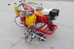 Hand-Pushed Cold Paint Marking Machine for Sale pictures & photos