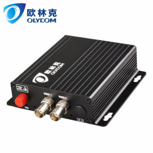 2CH Video Single Fiber FC Connectoe Video Optical Converter for Analog Cameras