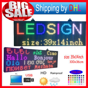 P10 Full Color RGB Programmable LED Sign with Scrolling Message Display for Fully Outdoor Use LED Display