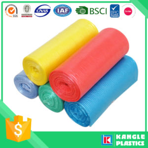 HDPE LDPE Roll Packed Garbage Bag with Different Color pictures & photos