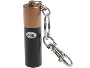 Battery Shape Metal USB Memory Stick pictures & photos