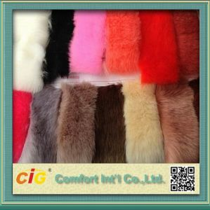 High Quality Plain Printed 100% Acrylic Faux Fur Fabric for Sale pictures & photos
