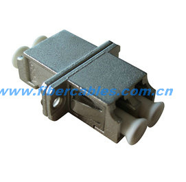 Fiber Optical LC Duplex Metal Housing Adapter Sc Footprints
