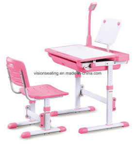 Plastic Kindergarten Children Kids Study Preschool Chair and Desk (7703T) pictures & photos