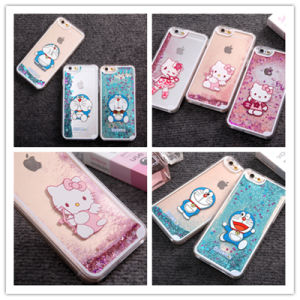 New Type Glitter Star Liquid Sand Cell Phone Case for iPhone6 Cartoon Mobile Phone Cover pictures & photos