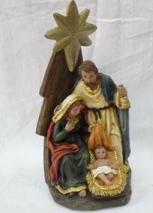 Resin Nativity Figurine, Christian Statue Decor