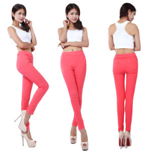 Hot Women′s Casual Stretch Skinny Leggings Pencil Pants Trousers Slim Fit