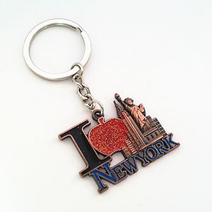 Promotional Gift Big Apple Antique Color Metal Customized Keyring (F1106)
