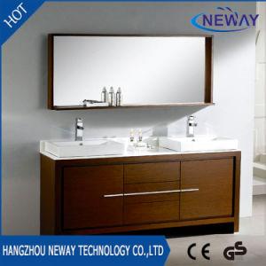 New Melamine Double Basin Waterproof Bathroom Furniture pictures & photos