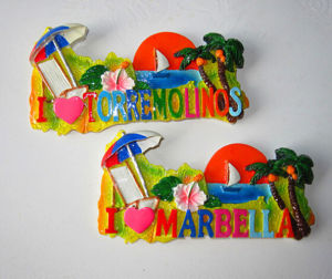 Custom Polyresin Scenery Fridge Magnet for Tourist Souvenirs pictures & photos