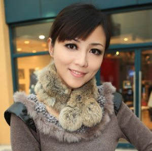 Lady Fashion Rabbit Fur Scarf (YKY4360) pictures & photos