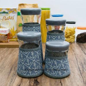 Factory Wholesale Bottle New Anchor Design Sailor Grey Storage Glass Jar (100071) pictures & photos