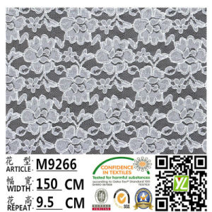 Dyed Elastic Lace Fabric with Polyester Cashmere Lace Fabric M9039