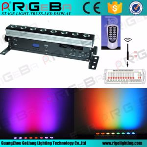 Stage 8LEDs 8W RGBWA 5in1 Wireless Battery Remote Control LED Wall Washer Light pictures & photos