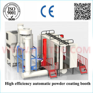 High Efficiency Automatic Powder Coating Booth for Fast Color Changing pictures & photos