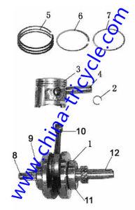 Spare Parts Crankshaft & Piston of Tricycle Engine (SP-SP-13) pictures & photos