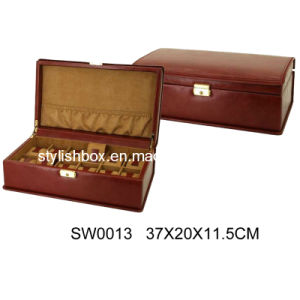 Brown PU Watch Box with 12 Slots (SW0013)