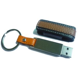 Promotional Leather USB Flash Disk with Custom Logo pictures & photos