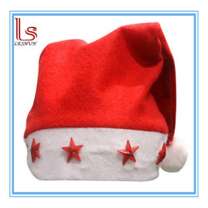 Christmas Decoration LED Flashing Star Santa Claus Hat for Adults pictures & photos