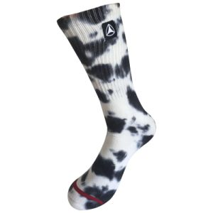 Half Cushion Cotton Fashion Logo Sport Tie Dye Socks (JMCC10) pictures & photos