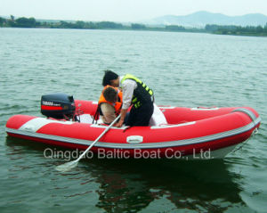 China Fiberglass Rib Boat Dinghy with Center Console pictures & photos