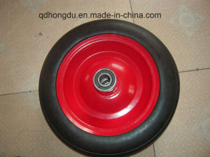 Trolley Spare Parts Steel or Plastic Rim Solid Tire pictures & photos