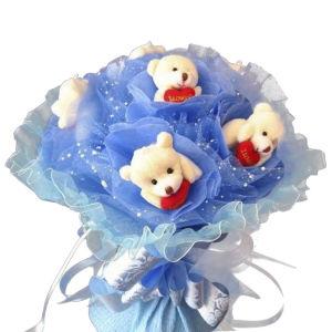 Wholesale Flower Gift Stuffed Bear